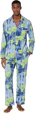 Long Sleeve Classic Pajama Set (Mother Earth) Men's Pajama Sets