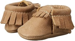 Newborn Moccasins (Infant) (Petite Weathered Brown) Kids Shoes