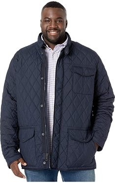 Big Tall Quilted Outerwear (College Navy) Men's Clothing
