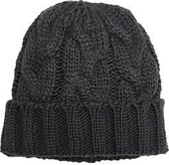 Fisherman Cable Hat (Charcoal) Beanies