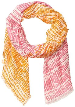 Dotted Stripe Oblong (Hibiscus) Scarves