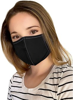 Cupid Flexible Fit Comfortable Face Cover One Size 3-Pack (Black) Caps