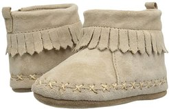 Cozy Ankle Moccasin Soft Sole (Infant/Toddler) (Taupe) Boy's Shoes