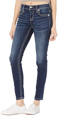 Hailey Embellished Skinny in Dark Blue (Dark Blue) Women's Jeans