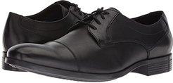 Conwell Cap (Black Leather) Men's Lace Up Moc Toe Shoes