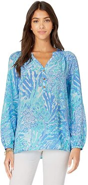 Elsa Top (Blue Haven Hey Hey Soleil) Women's Blouse