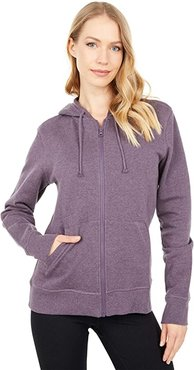 Organic Cotton Classic Zip Hoodie (Thistle Heather) Women's Clothing