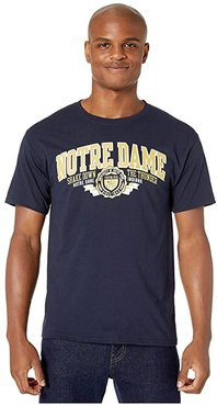 Notre Dame Fighting Irish Jersey Tee (Navy 3) Men's T Shirt