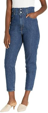 High-Waisted Paperbag (Short Fused) Women's Casual Pants