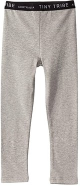 Leggings (Toddler/Little Kids) (Grey) Girl's Casual Pants