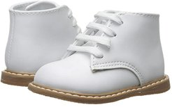 Leather Hi-Top (Infant/Toddler) (White) Kids Shoes
