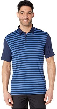 Ultimate365 Wide Stripe Polo Shirt (Collegiate Navy/Trace Royal) Men's Clothing