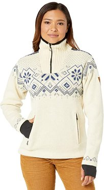 Fongen Weatherproof Feminine Sweater (Off-White/Light Charcoal/Smoke) Women's Clothing