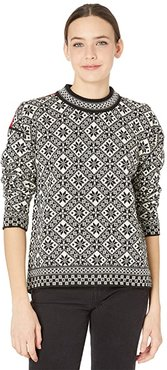 Bjoroy Sweater (Black/Off-White/Raspberry) Women's Clothing