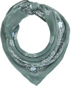 Paisley Garden Neckerchief with Daisy Embroidery (Laurel Wreath) Scarves