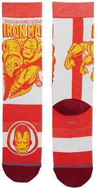 Iron Man Marquee (Red) Crew Cut Socks Shoes