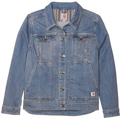 Plus Size Benson Denim Jacket (Stonewash) Women's Clothing