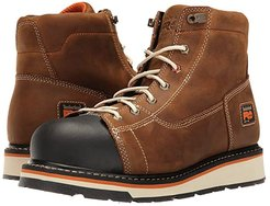 Gridworks 6 Soft Toe Boot (Brown Full-Grain Leather) Men's Work Boots