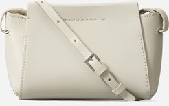 Micro Leather Messenger Bag by Everlane in Bone