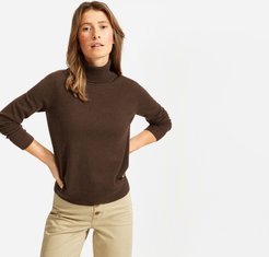 The Cashmere Turtleneck Sweater by Everlane in Heathered Java, Size L