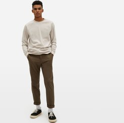 Premium-Weight Long-Sleeve Crew T-Shirt by Everlane in Heather Oatmeal, Size XS