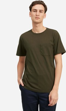 Premium-Weight Pocket T-Shirt by Everlane in Pine, Size S