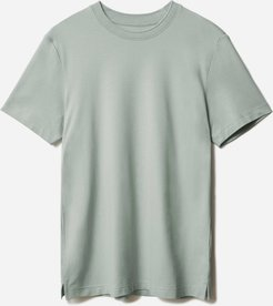 Performance Pique Crew T-Shirt by Everlane in Celadon Grey, Size XS