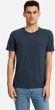 Cotton Pocket T-Shirt by Everlane in True Navy, Size XS
