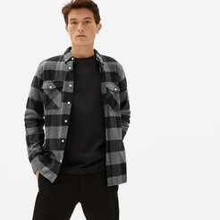 Brushed Flannel Shirt by Everlane in Black / Grey Check, Size XXL