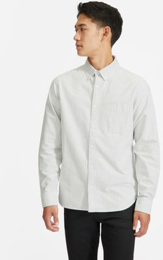 Standard Fit Japanese Oxford Shirt   Uniform by Everlane in White / Black, Size XXL