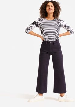 Wide Leg Crop Pant by Everlane in Navy, Size 16