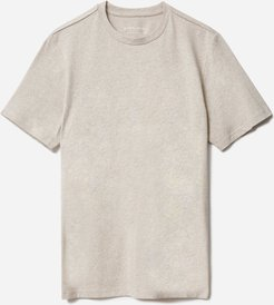 Premium-Weight Crew T-Shirt by Everlane in Heather Oatmeal, Size XXL