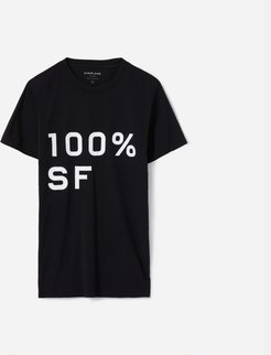 100% SF Crew T-Shirt by Everlane in Black, Size XL