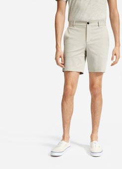 """7"""" Slim Fit Performance Chino Short Shirt by Everlane in Stone, Size 38"""