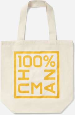 100% Human Tote Bag by Everlane in Canvas / Marigold