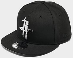 Houston Rockets NBA 9FIFTY Snapback Hat in Black/Black Polyester