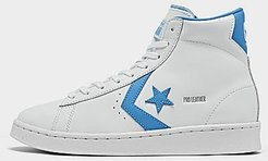Big Kids' x Roswell Rayguns Pro Leather High Top Casual Shoes in White/White Size 4.0