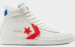 Pro Leather Birth of Flight High Top Casual Shoes in White/Vintage White Size 8.0