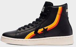 Big Kids' x Roswell Rayguns Pro Leather High Top Casual Shoes in Black/Black Size 4.0