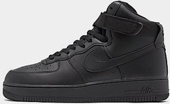 Air Force 1 High '07 Casual Shoes in Black/Black Size 12.0 Leather