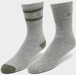 Marled Striped 2-Pack Boot Socks in Grey/Castle Rock Size Large Polyester/Acrylic/Spandex