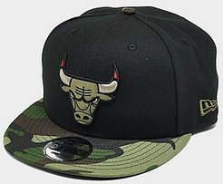 Chicago Bulls NBA All Star Game Camo Edition 9Fifty Snapback Hat in Black/Black 100% Polyester