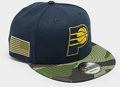 Indiana Pacers NBA All Star Game Camo Edition 9Fifty Snapback Hat in Blue/Navy 100% Polyester