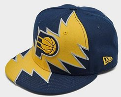 Indiana Pacers NBA 9FIFTY Snapback Hat in Blue/Navy Polyester