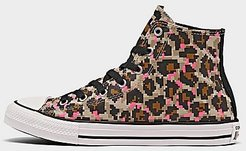 Girls' Little Kids' 8-Bit Leopard Print Chuck Taylor All Star Casual Shoes in Brown/Black Size 1.0 Canvas