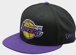 Los Angeles Lakers NBA 9FIFTY Snapback Hat in Purple/Black/Black Polyester