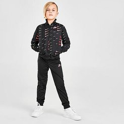 Boys' Little Kids' Swoosh Track Suit in Red/Black Size 6 100% Polyester/Knit