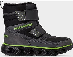 Boys' Little Kids' S Lights: Hypno-Flash 2.0 - Street Breeze Light-Up Hook-and-Loop Boots in Black Size 11.0