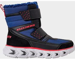 Boys' Little Kids' S Lights: Hypno-Flash - Street Breeze Light-Up Hook-and-Loop Boots in Blue Size 2.0