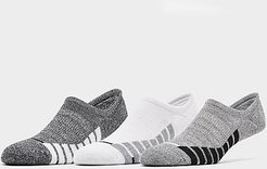 3-Pack Footie Socks in White/Grey/White Size Large 100% Cotton